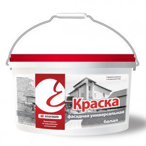 Краска фасадная универсальная Белая — Экорум (Ecoroom)