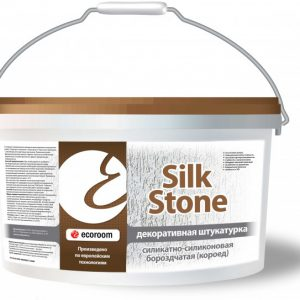Штукатурка силикатно-силиконовая бороздчатая Короед — Silkstone Экорум (Ecoroom)