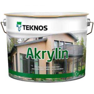 Краска для стен фасада не бревенчатого деревянного дома — Текнос Акрилин (Teknos Akrylin)