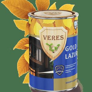Усиленная водоотталкивающая пропитка для древесины — Верес Голд (Veres Gold)