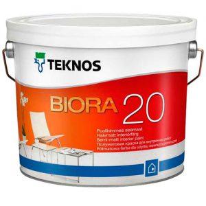 Краска для внутренних стен акриловая — Текнос Биора 20 (Teknos Biora Remonttimaali)