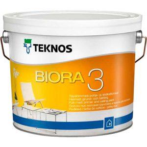Краска для потолков грунтовочная акриловая — Текнос Биора 3 (Teknos Biora Kattomaali)