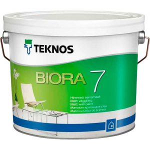 Краска для стен акрилатная — Текнос Биора 7 (Teknos Biora Seinamaali)