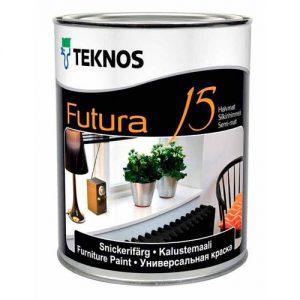 Краска для металла и дерева универсальная полуматовая — Текнос Футура 15 (Teknos Futura)