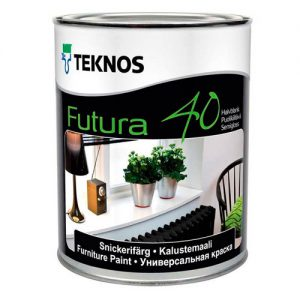Краска для металла и дерева универсальная полуглянцевая — Текнос Футура 40 (Teknos Futura)