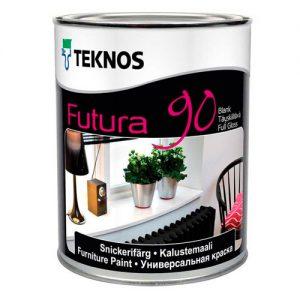 Краска для металла и дерева универсальная финишная глянцевая — Текнос Футура 90 (Teknos Futura)
