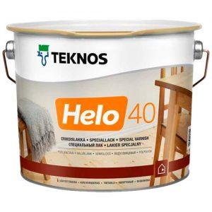 Лак для дерева уретано-алкидный износостойкий полуглянцевый — Текнос Хело 40 (Teknos Helo)