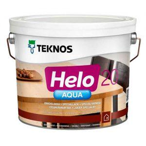 Лак для дерева полиуретановый полуматовый — Текнос Хело Аква 20 (Teknos Helo Aqua)