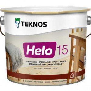 Лак для дерева уретано-алкидный износостойкий матовый — Текнос Хело 15 (Teknos Helo)