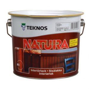 Лак для стен, потолков и мебели акриловый — Текнос Натура (Teknos Natura lakka)