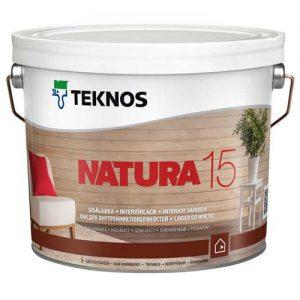 Лак для бревенчатых потолков и стен акриловый полуматовый — Текнос Натура 15 (Teknos Natura)