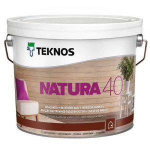 Лак для бревенчатых потолков и стен акриловый полуглянцевый — Текнос Натура 40 (Teknos Natura)