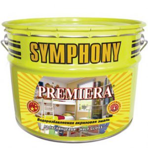 Эмаль акриловая влагостойкая с эффектом пластика — Симфония Премьера (Symphony Premiera)