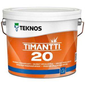 Краска для влажных помещений акриловая влагостойкая — Текнос Тиманти 20 (Teknos Timantti)