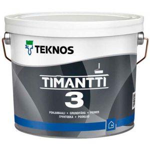 Краска для влажных помещений акриловая влагостойкая — Текнос Тиманти 3 (Teknos Timantti)
