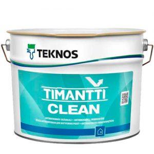 Краска для внутренних работ акриловая антимикробная — Текнос Тиманти Клин (Teknos Timantti Clean)