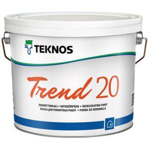 Краска для ремонтных работ стен и потолков — Текнос Тренд 20 (Teknos Trend)
