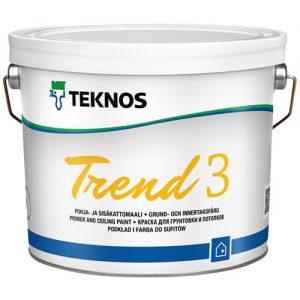Краска для потолков акрилатная грунтовочная — Текнос Тренд 3 (Teknos Trend)