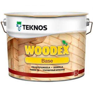 Антисептик для защиты древесины от плесени грунтовочный под финишные покрытия — Текнос Вудекс Бейс (Teknos Woodex Base)