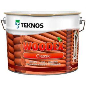 Антисептик для древесины алкидный лессирующий колеруется — Текнос Вудекс Классик (Teknos Woodex Classic)