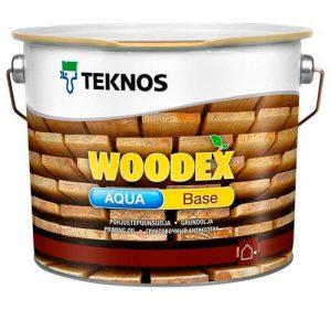 Антисептик для защиты строганой и бревенчатой древесины от плесени масляный грунтовочный — Текнос Вудекс Бейс Аква (Teknos Woodex Base Aqua)