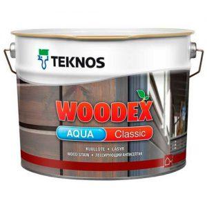 Антисептик для древесины масляный лессирующий колеруется — Текнос Вудекс Классик Аква (Teknos Woodex Aqua Classic)